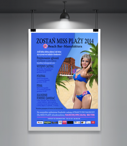 Plakat Miss Plaży Beach Bar Manufaktura